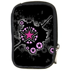 Pink Star Explosion Compact Camera Leather Case