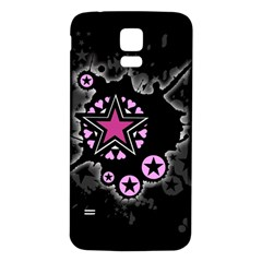 Pink Star Explosion Samsung Galaxy S5 Back Case (White)
