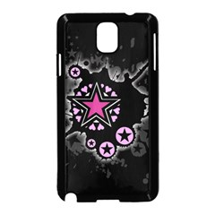 Pink Star Explosion Samsung Galaxy Note 3 Neo Hardshell Case (Black)