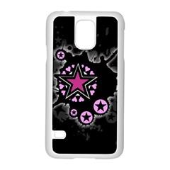 Pink Star Explosion Samsung Galaxy S5 Case (white)