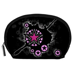 Pink Star Explosion Accessory Pouch (Large)