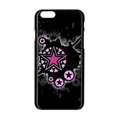 Pink Star Explosion Apple iPhone 6 Black Enamel Case