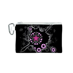 Pink Star Explosion Canvas Cosmetic Bag (Small)
