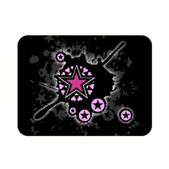 Pink Star Explosion Double Sided Flano Blanket (Mini)