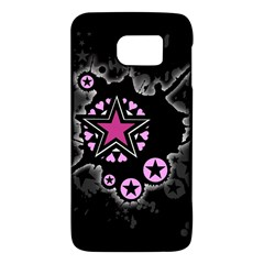 Pink Star Explosion Samsung Galaxy S6 Hardshell Case