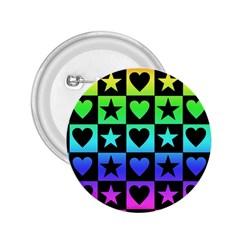 Rainbow Stars And Hearts 2 25  Button