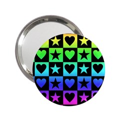 Rainbow Stars And Hearts Handbag Mirror (2 25 )