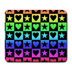 Rainbow Stars And Hearts Large Mouse Pad (rectangle)