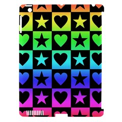 Rainbow Stars And Hearts Apple Ipad 3/4 Hardshell Case (compatible With Smart Cover)