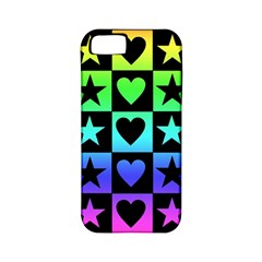 Rainbow Stars And Hearts Apple Iphone 5 Classic Hardshell Case (pc+silicone)