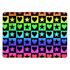 Rainbow Stars and Hearts Samsung Galaxy Tab 10.1  P7500 Flip Case