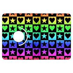 Rainbow Stars And Hearts Kindle Fire Hdx Flip 360 Case