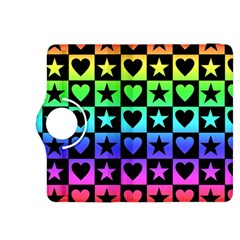 Rainbow Stars and Hearts Kindle Fire HDX 8.9  Flip 360 Case