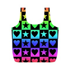 Rainbow Stars And Hearts Reusable Bag (m)