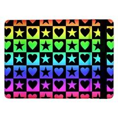 Rainbow Stars and Hearts Samsung Galaxy Tab Pro 12.2  Flip Case