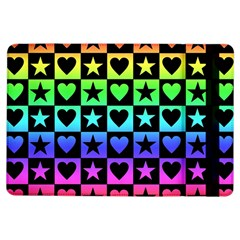 Rainbow Stars and Hearts Apple iPad Air Flip Case
