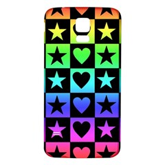 Rainbow Stars and Hearts Samsung Galaxy S5 Back Case (White)
