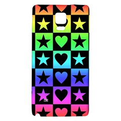 Rainbow Stars and Hearts Samsung Note 4 Hardshell Back Case