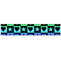 Rainbow Stars And Hearts Flano Scarf (large)