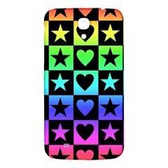 Rainbow Stars And Hearts Samsung Galaxy Mega I9200 Hardshell Back Case
