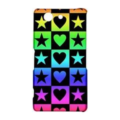 Rainbow Stars and Hearts Sony Xperia Z3 Compact Hardshell Case