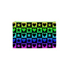 Rainbow Stars and Hearts Cosmetic Bag (XS)