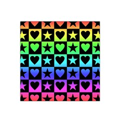 Rainbow Stars and Hearts Satin Bandana Scarf