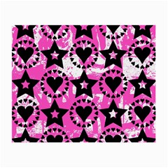 Star And Heart Pattern Glasses Cloth (small, Two Sided)