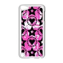 Star And Heart Pattern Apple Ipod Touch 5 Case (white)
