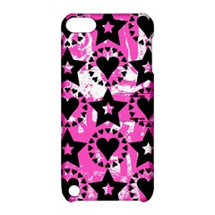 Star And Heart Pattern Apple Ipod Touch 5 Hardshell Case With Stand