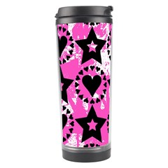 Star And Heart Pattern Travel Tumbler