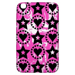 Star And Heart Pattern Samsung Galaxy Tab 3 (8 ) T3100 Hardshell Case
