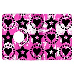 Star And Heart Pattern Kindle Fire Hdx Flip 360 Case