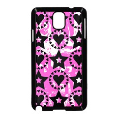 Star And Heart Pattern Samsung Galaxy Note 3 Neo Hardshell Case (Black)