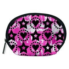 Star And Heart Pattern Accessory Pouch (medium)