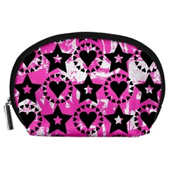 Star And Heart Pattern Accessory Pouch (Large)
