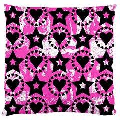Star And Heart Pattern Standard Flano Cushion Case (one Side)