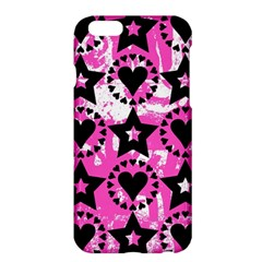 Star And Heart Pattern Apple iPhone 6 Plus Hardshell Case