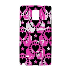 Star And Heart Pattern Samsung Galaxy Note 4 Hardshell Case