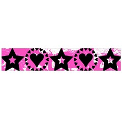 Star And Heart Pattern Flano Scarf (Large)
