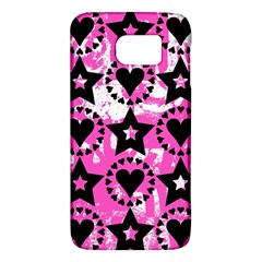 Star And Heart Pattern Samsung Galaxy S6 Hardshell Case