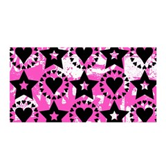Star And Heart Pattern Satin Wrap