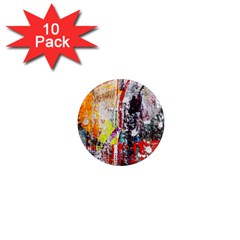 Abstract Graffiti 1  Mini Button Magnet (10 Pack)