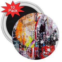 Abstract Graffiti 3  Button Magnet (10 Pack)