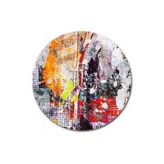 Abstract Graffiti Magnet 3  (round)