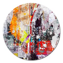 Abstract Graffiti Magnet 5  (round)