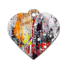 Abstract Graffiti Dog Tag Heart (two Sided)