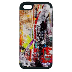 Abstract Graffiti Apple Iphone 5 Hardshell Case (pc+silicone)