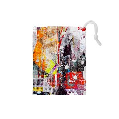 Abstract Graffiti Drawstring Pouch (Small)