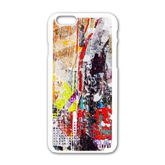 Abstract Graffiti Apple Iphone 6 White Enamel Case